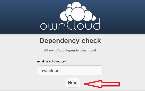 Owncloud installation tutorial 2