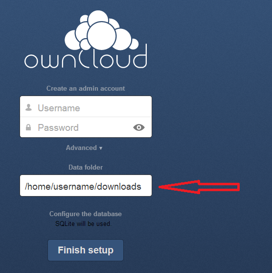 Owncloud installation tutorial 5